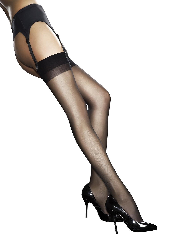 Fiore Luxury Super Sheer Fine Calze 20 denari, disponibile in nero, bianco o marrone chiaro
