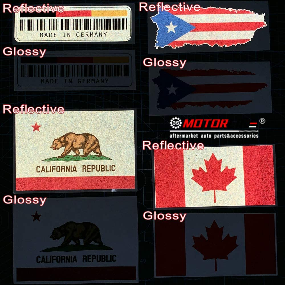 3S MOTORLINE 2X Reflective 4 Eight-ray Sun Stars Philippines Flag Filipino Decal Sticker Car Vinyl