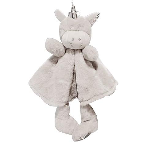 DecoBay Baby Bunny Cuddle Baby Animal Doudou Bunny Unicorn Cuddly Blanket para Niñas y Niños (