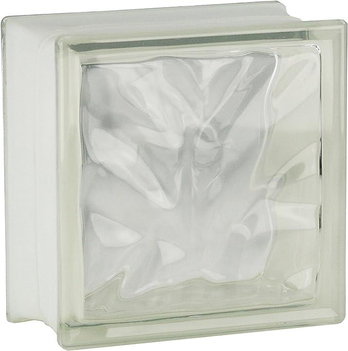 4 piezas FUCHS bloques de vidrio nube neutro 19x19x10 cm: Amazon.es: Bricolaje y herramientas