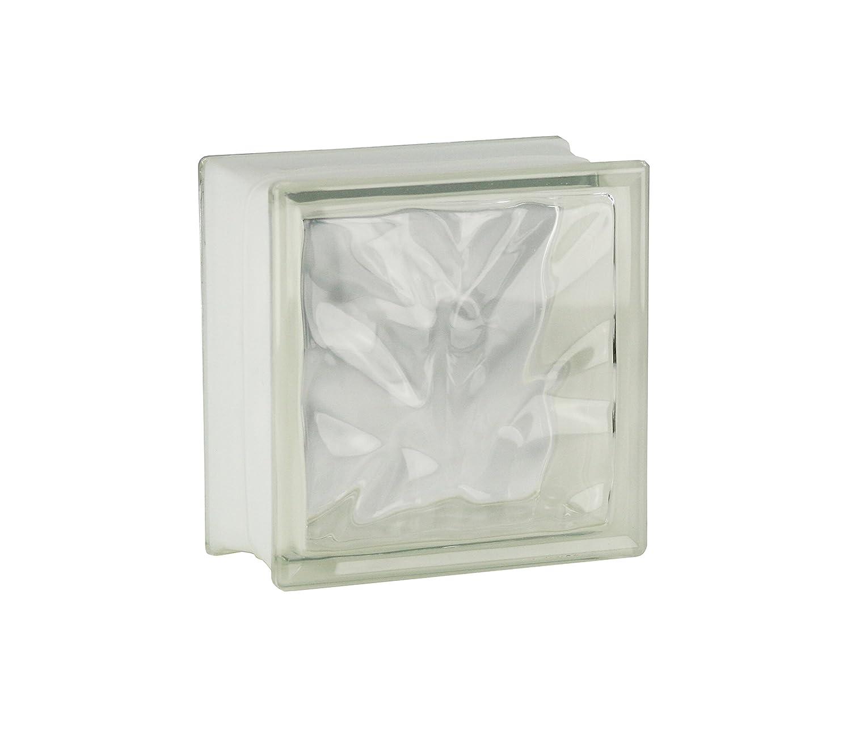 4 piezas FUCHS bloques de vidrio nube neutro 19x19x10 cm Fuchs Design