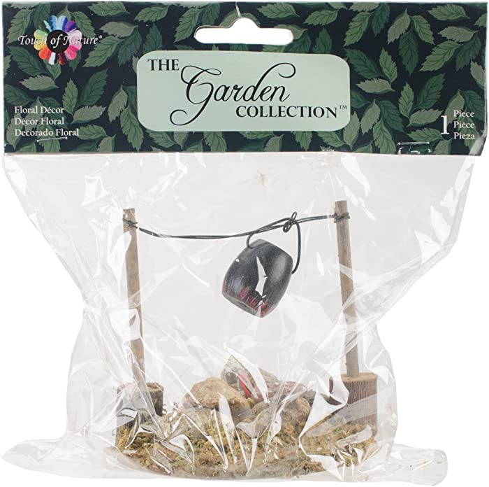 """Touch of Nature 1-Piece Miniature Garden Fire Pit and Cooking Pot with LED Lighted, 3.25"""" Wide x 3.5"""" High x 3.25"""" Deep"""