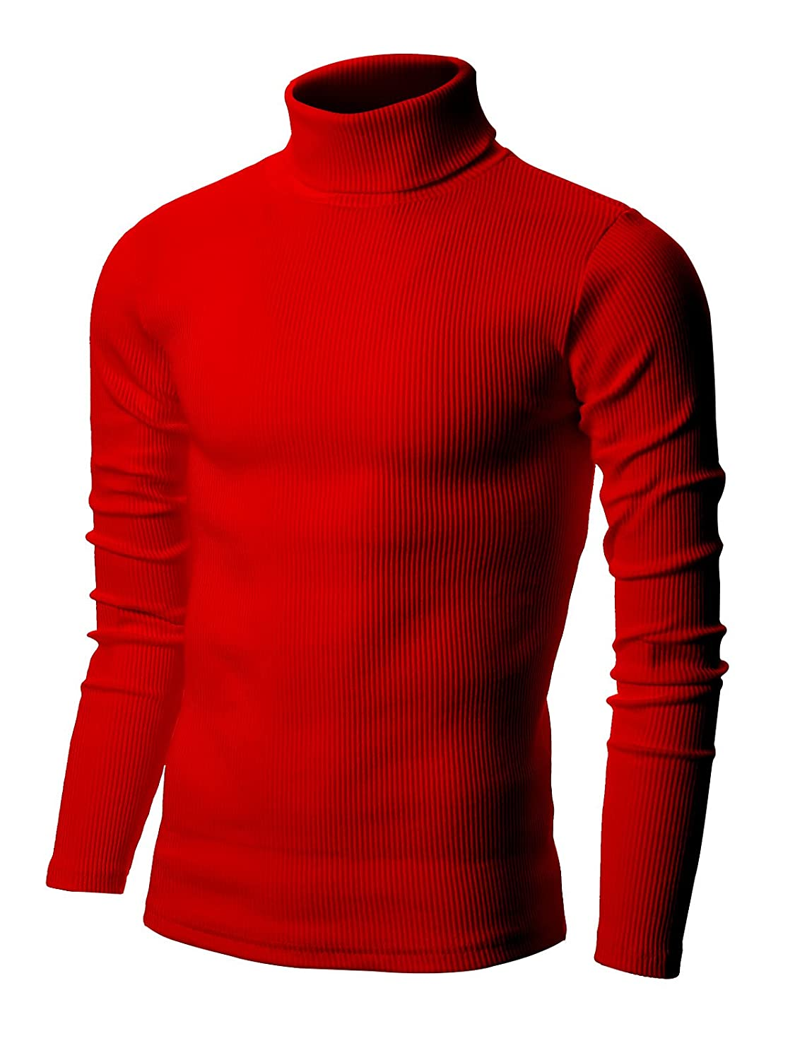 Amazon.com: Nyfashioncity Mens Basic Ribbed Turtleneck Shirts ...
