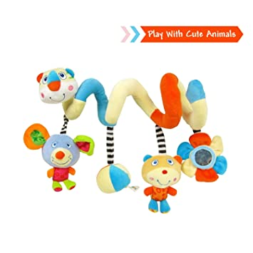 Amazon.com : Labebe Car Seat Toy, Hanging Toy for Baby with ...