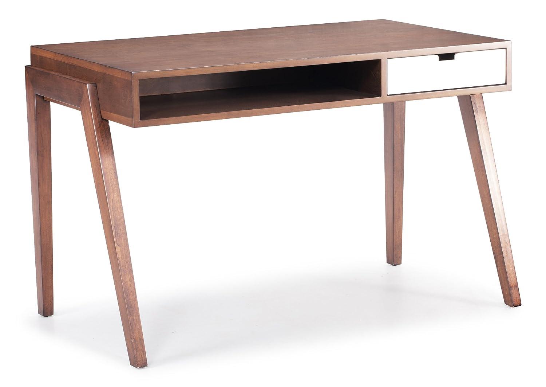 amazoncom zuo modern linea desk walnut kitchen dining