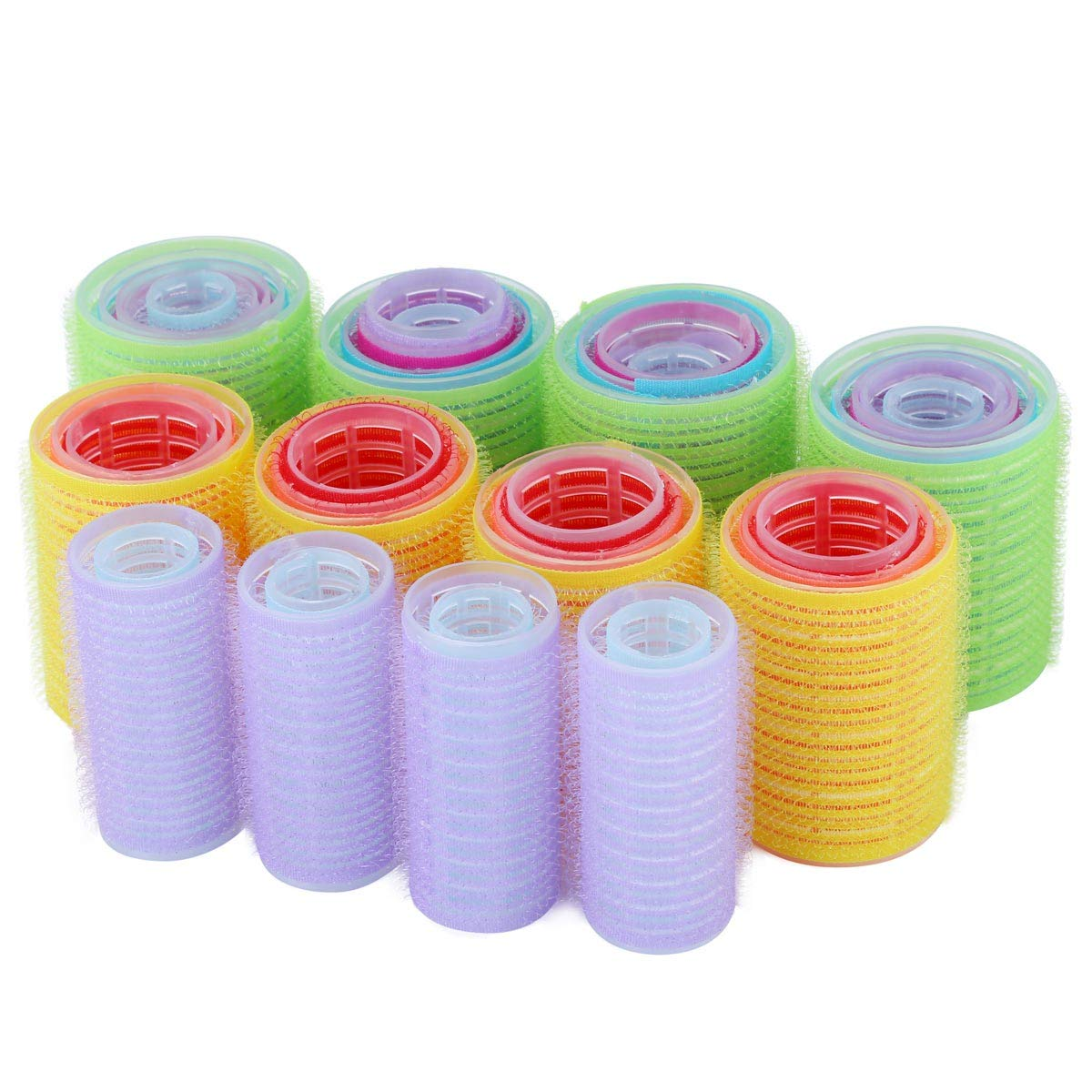 40 Pcs Plastic Hair Rollers Self Grip Hair Roll 5 Sizes Large Medium Small Hair Curler Hairdressing Curling Tools