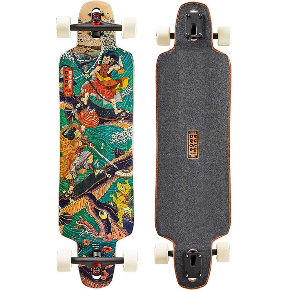 Axdwfd スケートボード ロングボードスケートボード、男性と女性の発電機初心者のための99x24cmの専門のスケートボードの下り坂