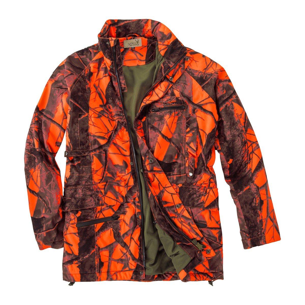 Hubertus Veste de chasse au signal orange surdimensionn/ée /à motifs orange