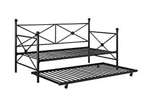DHP Sturdy Modern Metal Daybed Roll Out