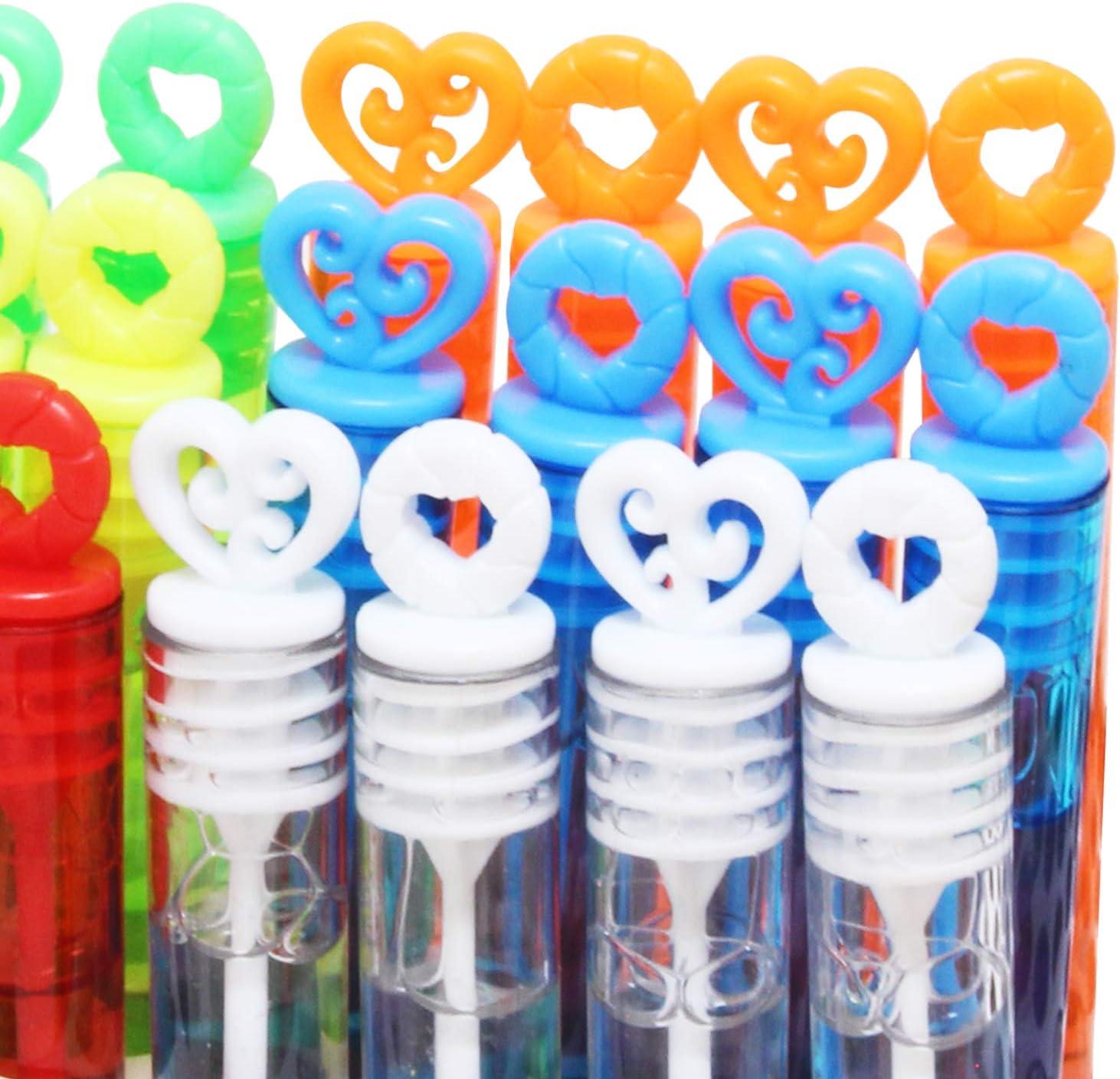 JOYIN 72 Mini Bubble Maker Wands; Circle /& Heart Shapes for Kids Photo Prop Decorations Basket Stuffers. Wedding Engagement Anniversary Classroom Party Favors D/écor