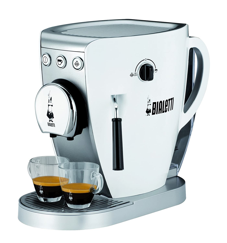 Amazoncom Bialetti (Bialetti) Espresso Machine Tazzissima Tagissima White Cf37 Wh Kitchen
