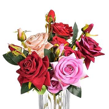 Baixue Kunstliche Blume 3 Kopfe Kunstliche Blumen Pfingstrose