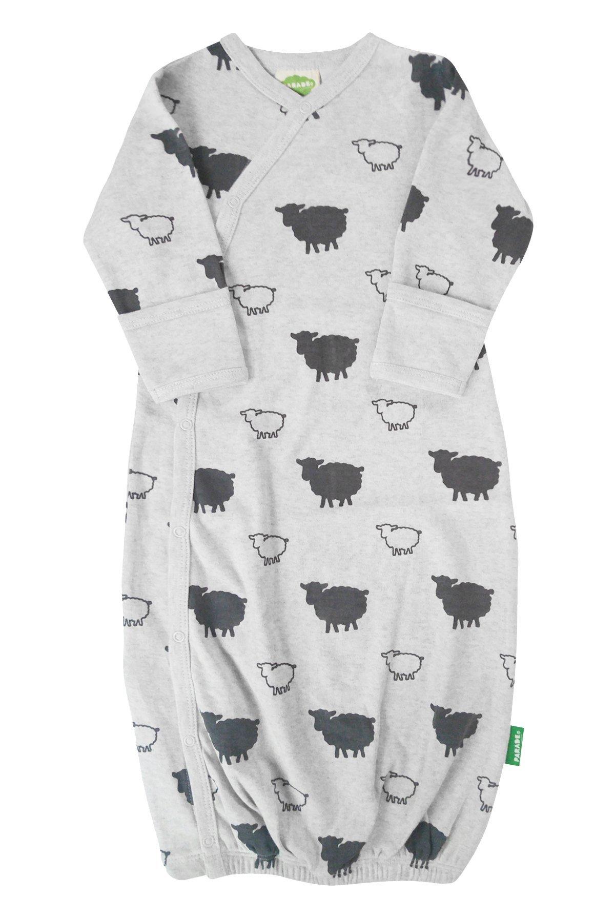 Parade Organics Kimono Gowns - Signature Prints Grey Sheep 3-6 Months