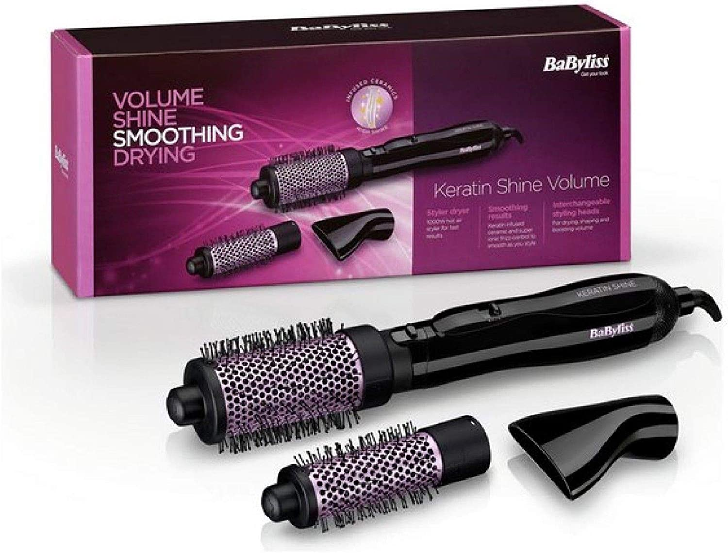 Babyliss Pro Ionic HOT AIR Styler AIRSTYLER Brush NEW /& IMPROVED 50mm