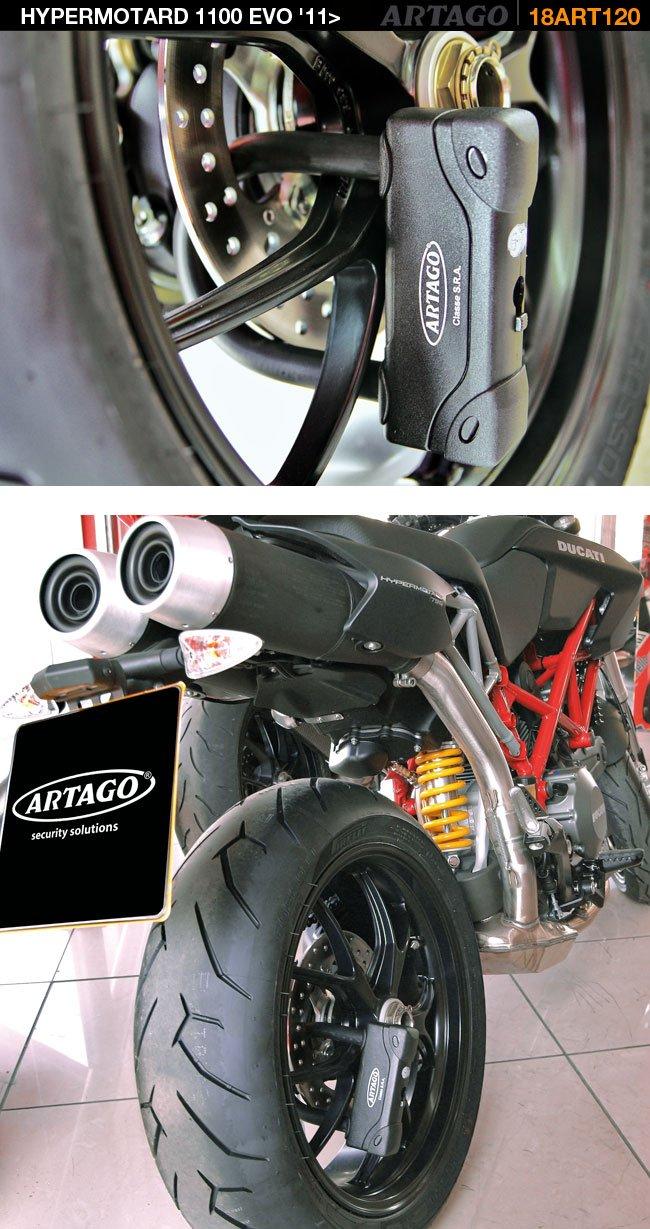 Artago 18ART120 Motorcycle Best U-LOCK 18 mm - 120 mm x 85 mm Maximum Level