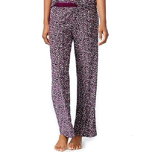 5a310de750da Alfani Womens Plus Printed Elastic Long Pajama Bottoms Purple 3XL at ...