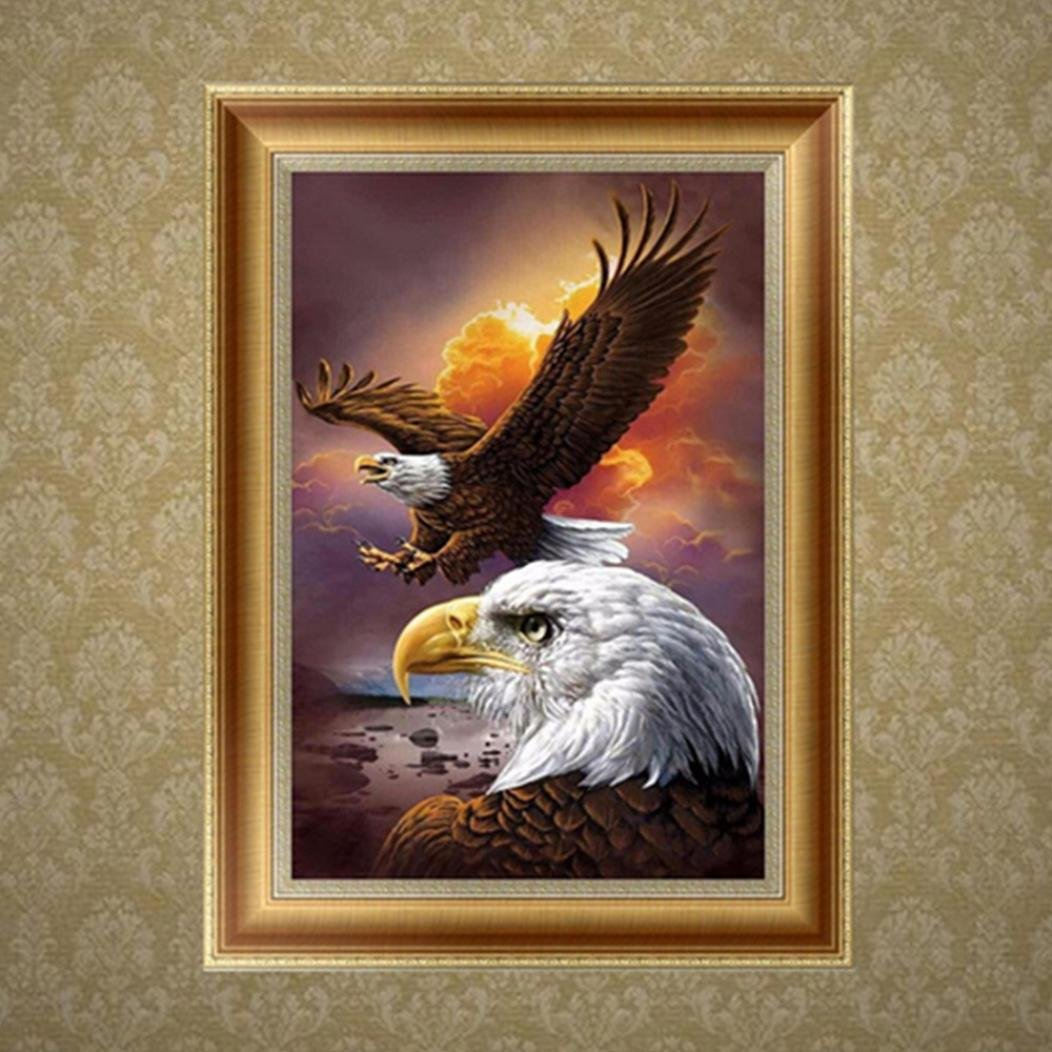 A Animals 5D Diamond Painting callm Clearance DIY Cross Stitch Kit Diamond Embroidery Rhinestone Painting Drill Arts Craft Supply for Home Wall Decor Eagle
