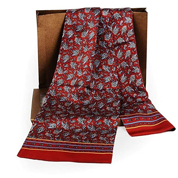 953b657c427 Foulard En Soie Double Couche Automne Hiver Vintage Mode Chaud Loisirs  Essentiel Confortable Foulard (Color