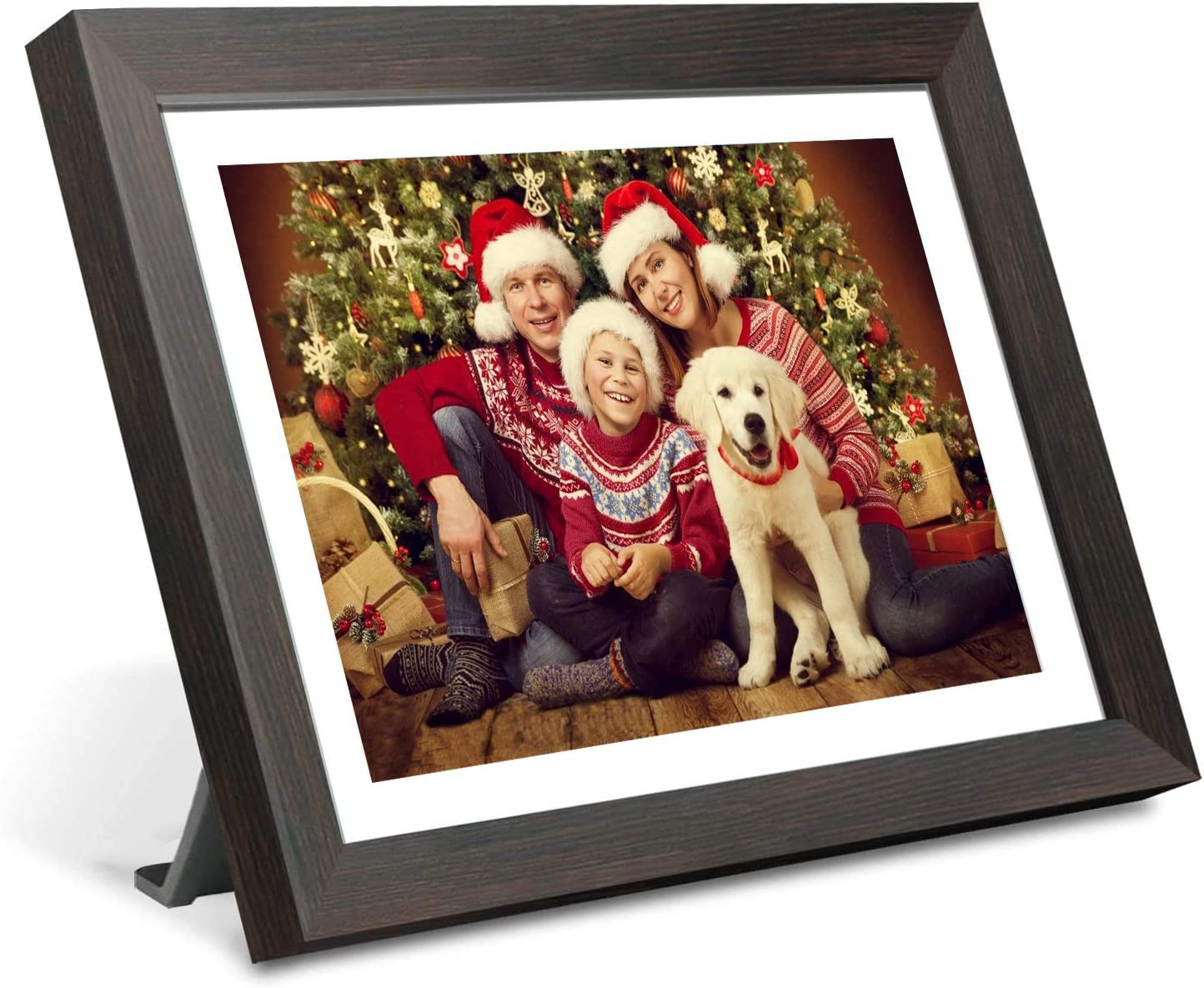 Smart WiFi Digital Picture Frame,10 inch IPS Touch Screen HD LCD Display,1280×800 Resolution,16GB Storage,Auto-Rotate,Share Photos and Video via App at Anytime and Anywhere,Support USB Micro SD card