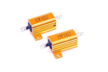 LM YN 25 Watt 300 Ohm 5/% Wirewound Resistor Electronic Aluminium Shell Resistor Gold for Inverter LED lights Frequency Divider Servo Industry Industrial Control 2-Pcs