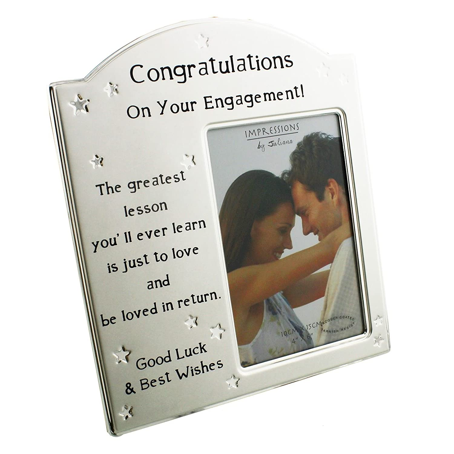 Engagement frame - 2 tone silver plated 4 x 6 inch: Amazon.co.uk ...