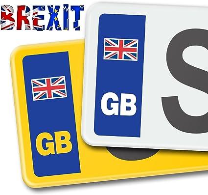 SIGNS247 GB - Pegatinas de Vinilo para Placa de matrícula de Coche, diseño de la Bandera británica: Amazon.es: Coche y moto