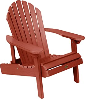 product image for Highwood Hamilton Folding and Reclining Adirondack Chair, Adult Size, Rustic Red, Model Number: AD-CHL1-RED