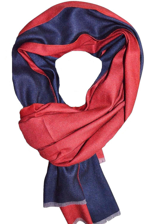 KARL LOVEN Femme - écharpe - Bicolore - Mixte - pashmina - foulard - cache- col - 5 couleurs au choix (Rouge Bleu - Violet)  Amazon.fr  Vêtements et ... bd9a58202af
