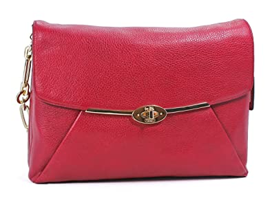 33c2bb4c5c Image Unavailable. Image not available for. Color  Coach Madison Leather  Shoulder Flap Handbag 26223 Scarlet Red