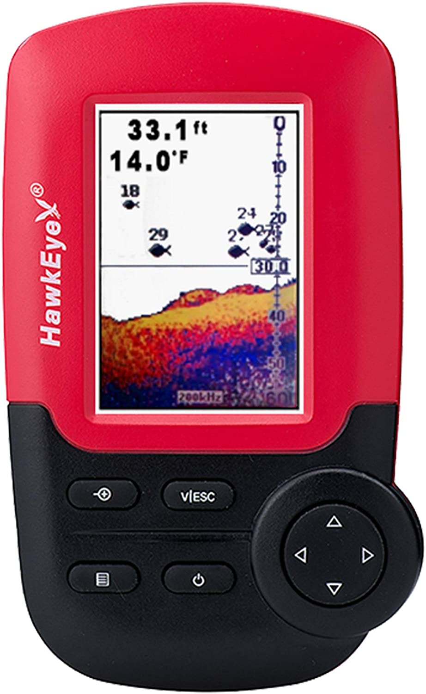 HawkEye FishTrax™ 1C Handheld Fish Finder w/HD Color VirtuView™ Display