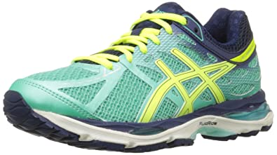 Asics Women's Gel-Cumulus 17 Running Shoe, Aqua Mint/Flash Yellow/Navy