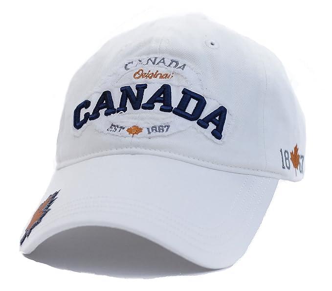 Canada Original 1867 Baseball Hat Adjustable Hat True North - White ... 27ab6ef099e