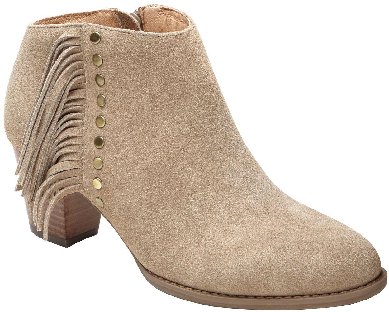 Vionic Women's Upright Faros Fringe Ankle Boot (LightTan, 7 W)
