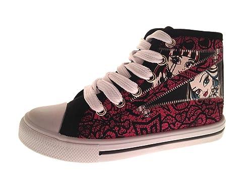 Niña Monster High Rosa Zapatillas Pattern Para Zip g7YIfmb6yv