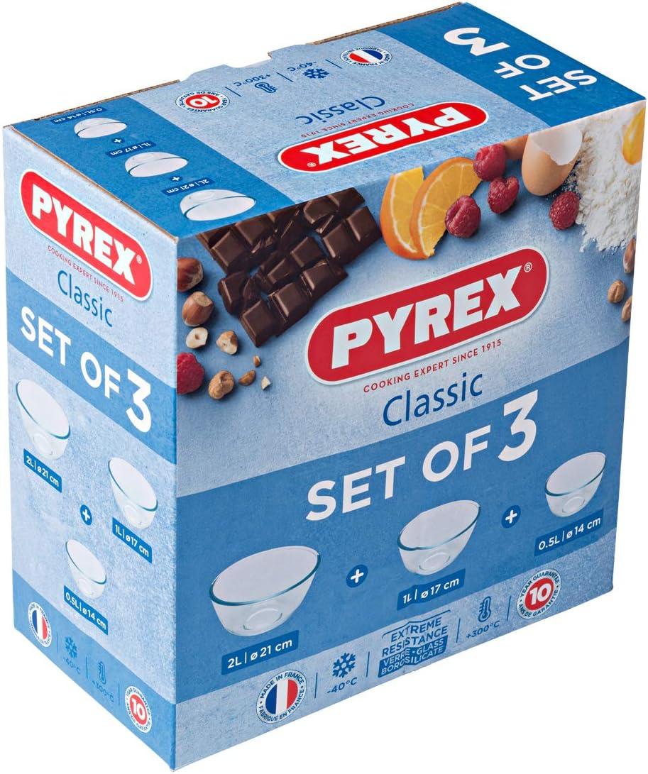Pyrex Set 3 ciotole 0,5 l 1,0 l e 2,0 l
