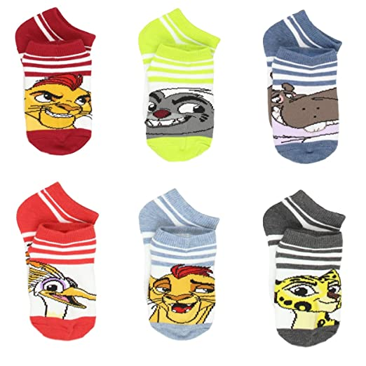 d35d1a04af33 Amazon.com: The Lion Guard Little Kids 6 pack Socks (4-6 (Shoe: 7-10 ...