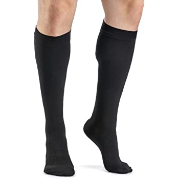 SIGVARIS Mens ACCESS 920 Closed-Toe Calf High Medical Compression 20-30mmHg,Black, Medium Long