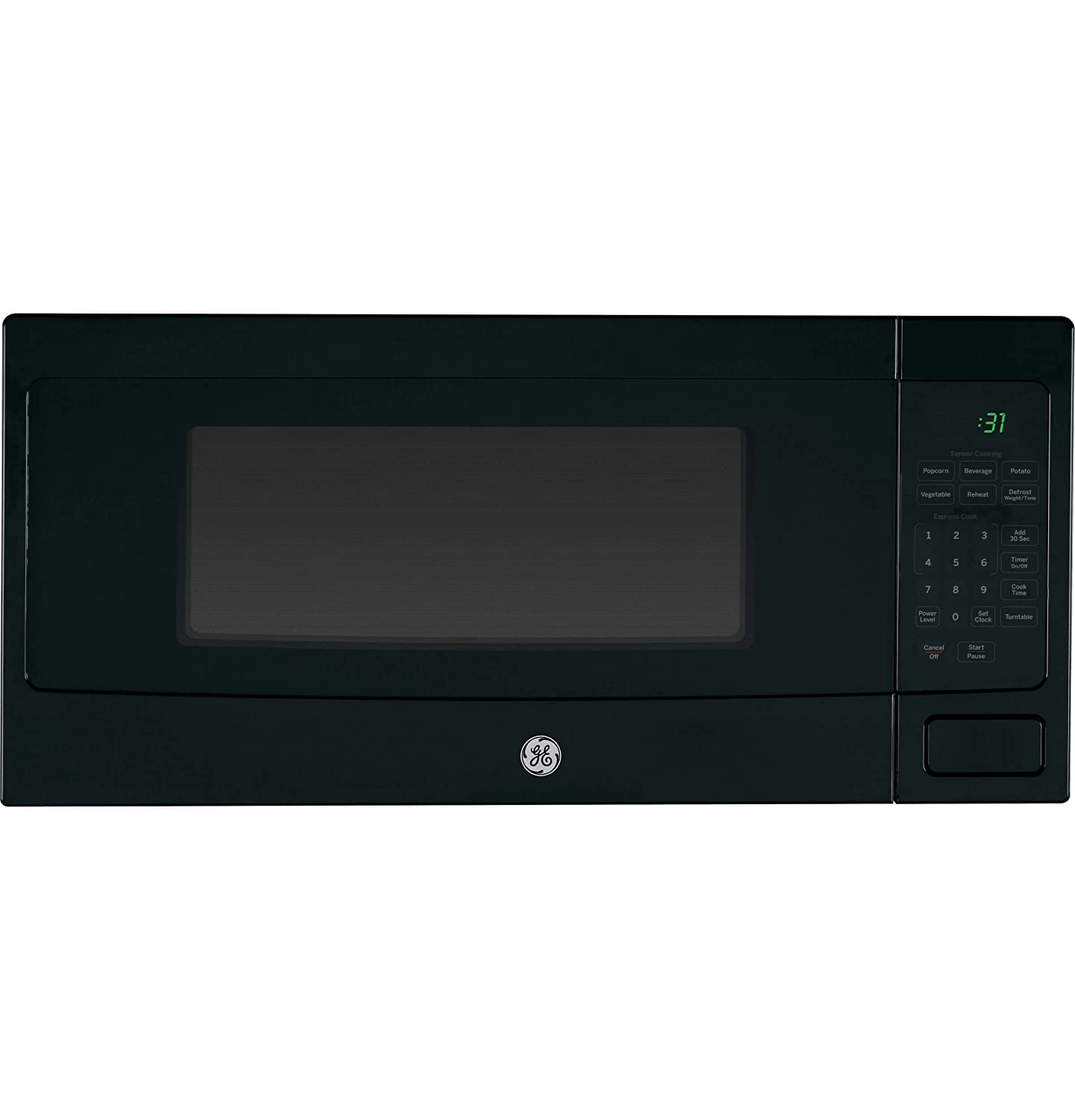 "GE Profile PEM31DFBB 24"" 1.1 cu. ft. Capacity counter top Microwave Oven in Black"