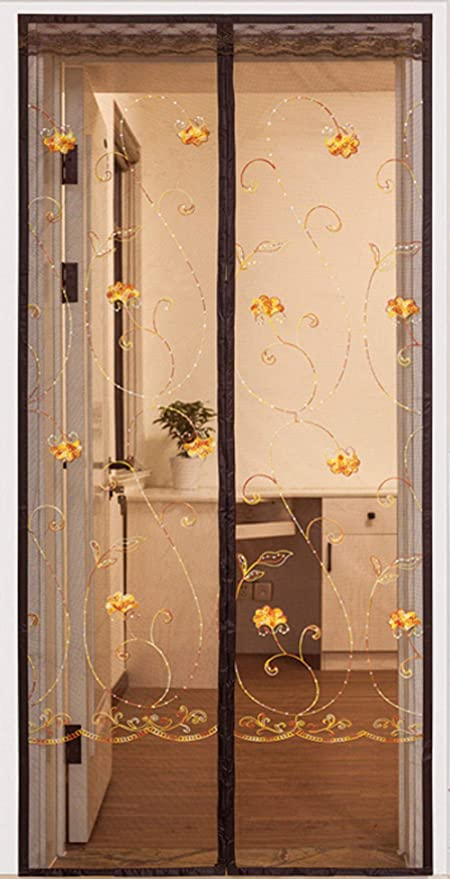 TINGYIN Anti-Mosquito Mosquitera Puerta,Fácil De Instalar Mosquitera Puerta Magnética Fáciles De Quitar Cortina Mosquitera Magnética Casa70×200cm: Amazon.es: Hogar