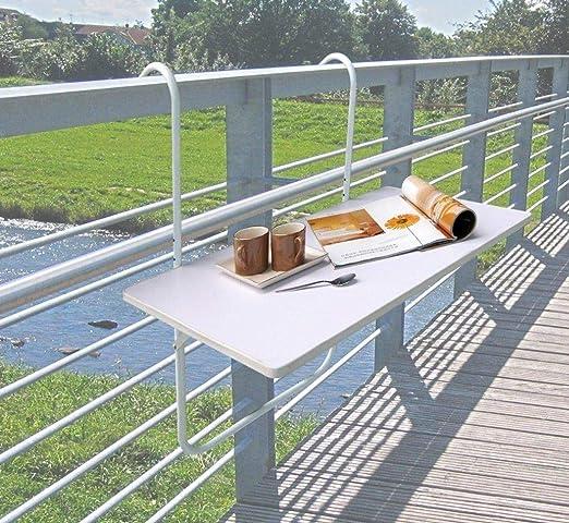 Mesa de balcón, mesa plegable, mesa colgante, 60 x 40 cm, mesa de ...
