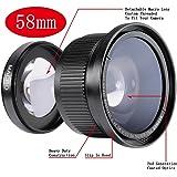 Neewer Super-Fischauge Weitwinkel-Objektiv mit Objektivdeckel (58mm, 0.35x) für Canon Rebel/EOS DSLR-Kameras