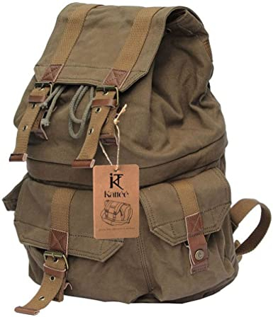 Kattee - Estilo Militar, lona, mochila para cámara réflex como ...