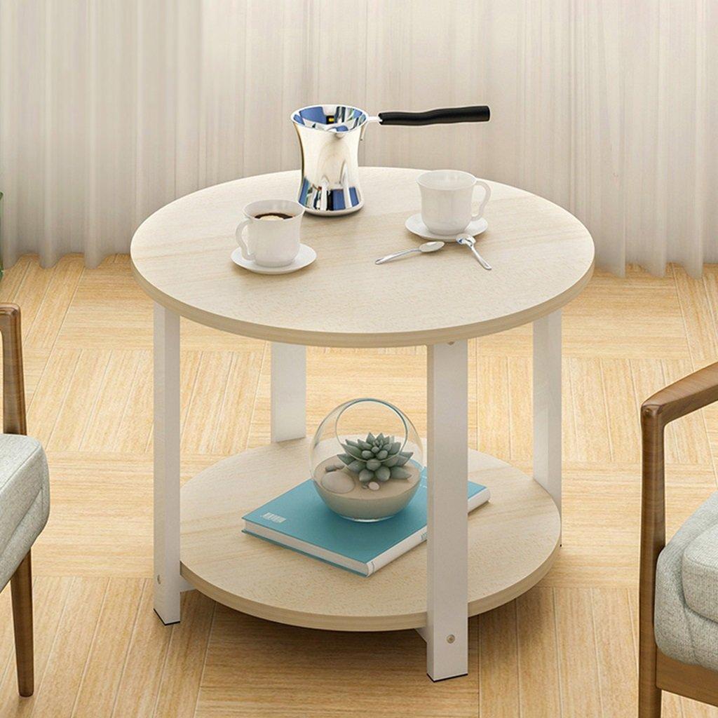 Super Kh® 60X60X43cmソファーサイドテーブルコーヒーテーブルラウンド小さな丸テーブルモダンテーブルコーナー携帯電話のテーブル * (色 : 2) B07K5Q7B2P 2 2