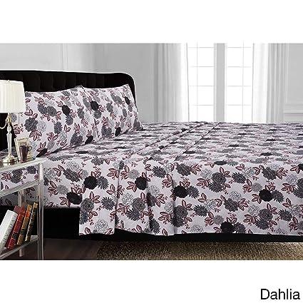 Dahlia Standard Tribeca Living FLDAHPCST Printed 170-GSM Cotton Flannel Pillowcases