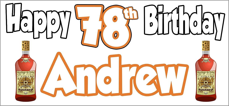 AK Giftshop Pancarta de cumpleaños con diseño de Ron ...