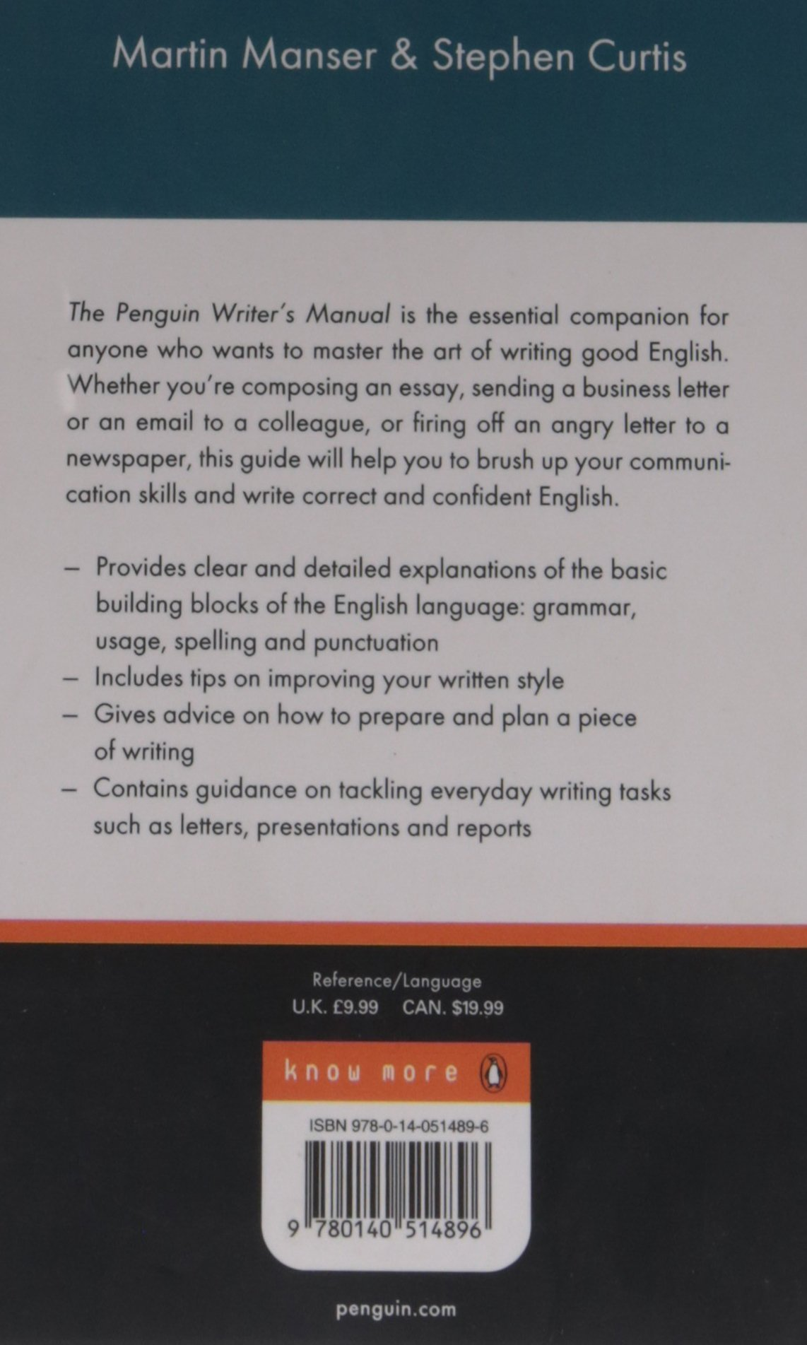 penguin writers manual penguin reference books martin manser  penguin writers manual penguin reference books martin manser stephen curtis 8601300103471 com books