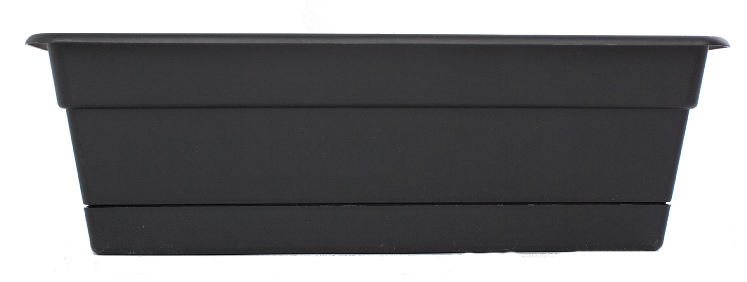 Bloem DCBT30-00 Dura Cotta Plant Window Box, Black, Blue