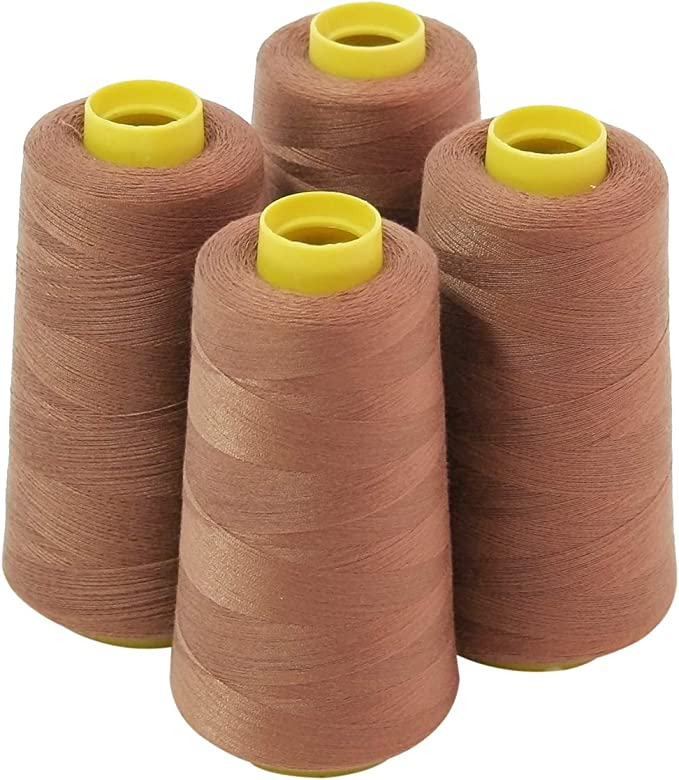 4 grandes conos (3000 yardas cada) de poliéster hilos para coser ...