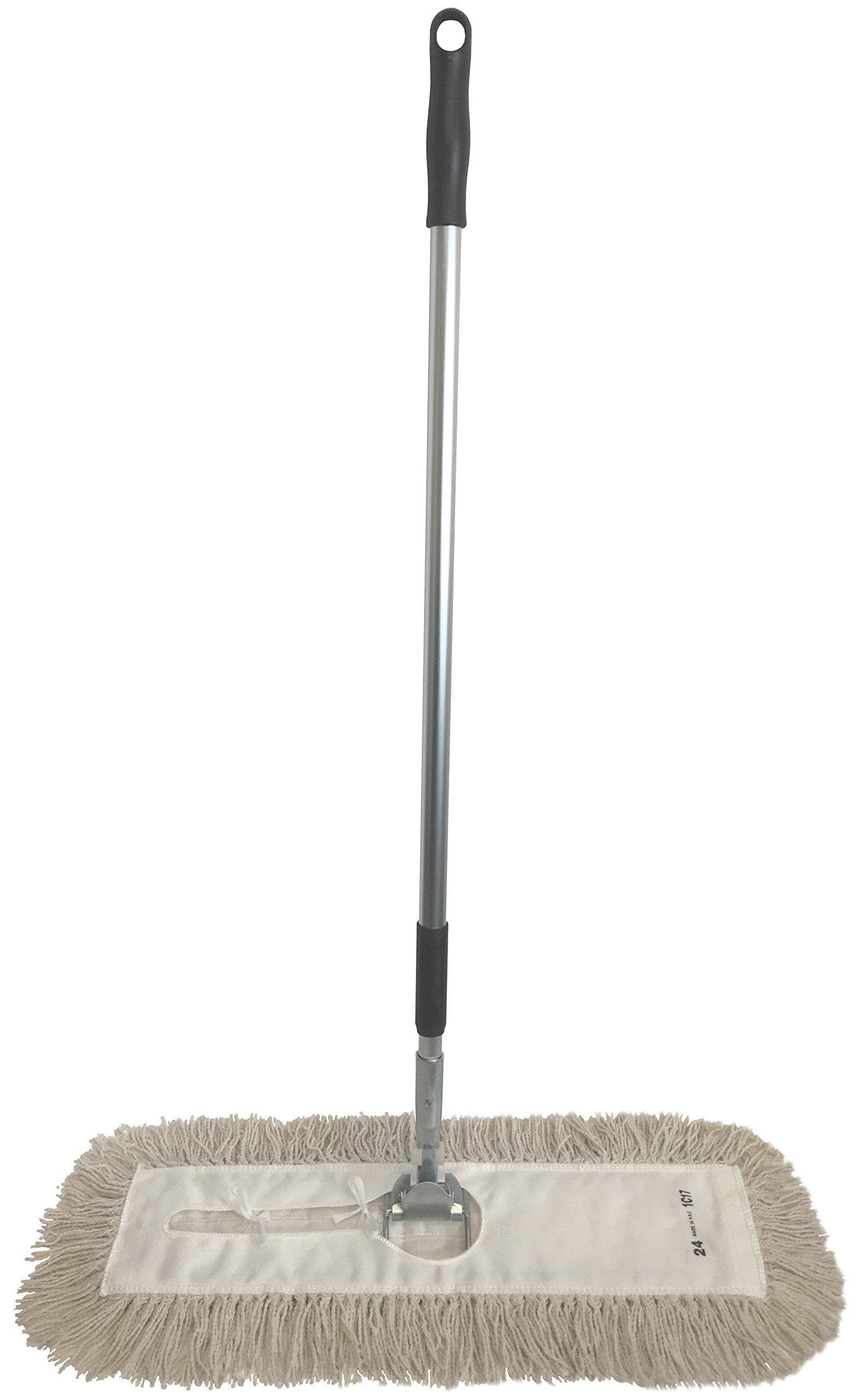 Dust Mop Kit 36'' : (1) 36'' White Industrial Closed-Loop Dust Mop, (1) 36'' Wire Dust Mop Frame & (1) Dust Mop Handle Clip-On Style by Direct Mop Sales, Inc.