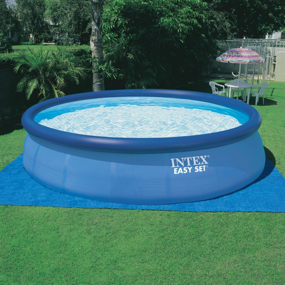 intex above ground swimming pool. Amazon.com : Intex 18ft X 48in Easy Set Pool With Filter Pump, Ladder, Ground Cloth \u0026 Cover Garden Outdoor Above Swimming 8
